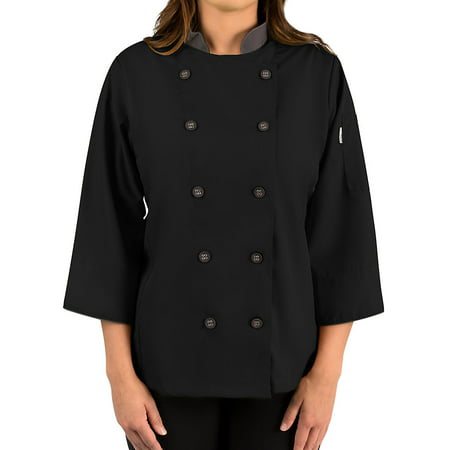 - Women's ¾ Sleeve Active Chef Coat