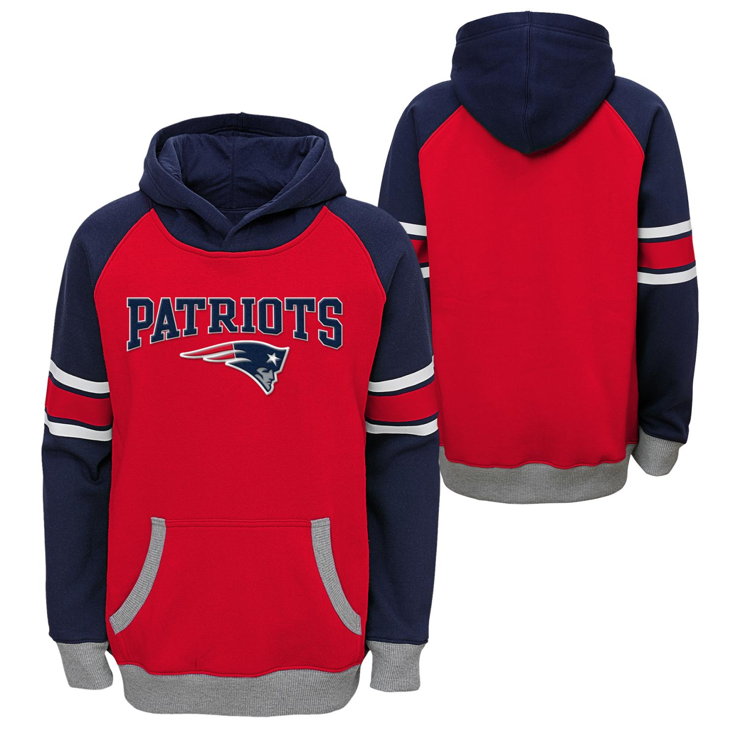 "New England Patriots Youth NFL ""Robust"" Pullover Hooded Sweatshirt"