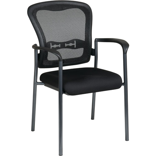 Office Star Pro Line II ProGrid Guest Chair, Titanium