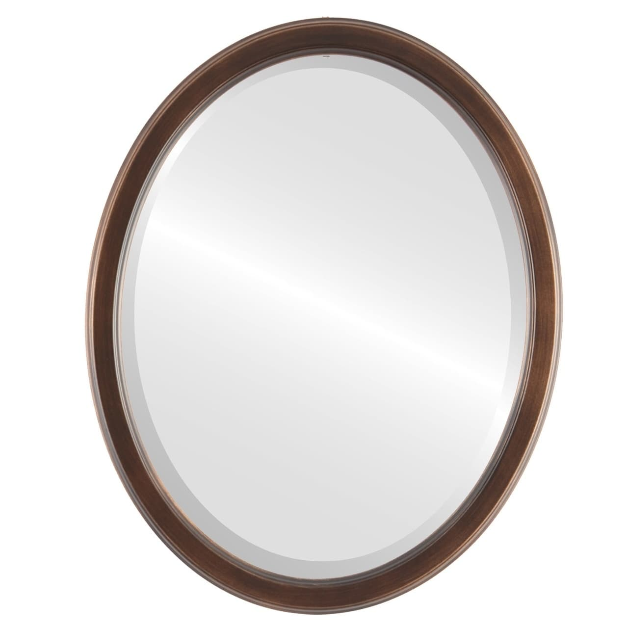 The Oval and Round Mirror Store Toronto Rubbed Antique Bronze Wood Framed Oval Mirror by Overstock