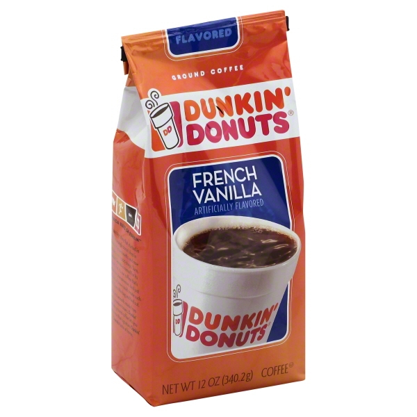 Dunkin' Donuts French Vanilla Ground Coffee, 12 oz