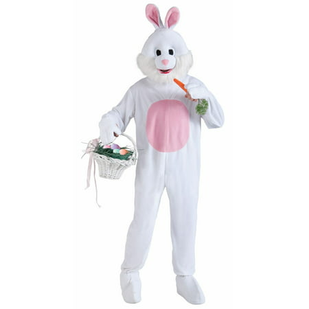 Deluxe Adult Easter Bunny Mascot Costume (Gingerbread Costumes For Adults)