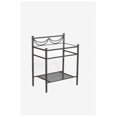 Camelot Nightstand - Glass Top