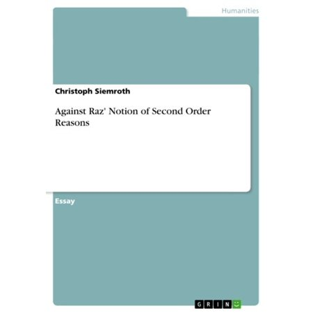 Against Raz' Notion of Second Order Reasons -