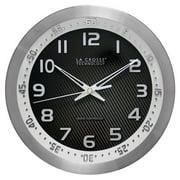 La Crosse Technology 10 Inch Atomic Wall Clock - Silver