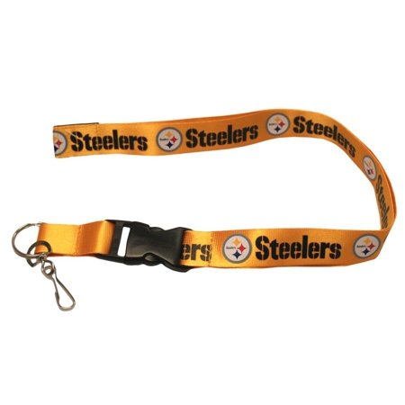 Pittsburgh Steelers Nfl Lanyard W Key Ring Pro Specialties Group 235111