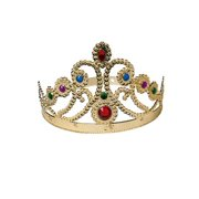(Price/Each)US TOY H179 Plastic Queen Crown with Jewels