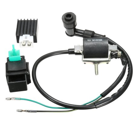 Ignition Coil + regulator CDI Box UNIT + Rectifier Regulator 90cc 110cc 125cc 140cc Quad PIT Dirt Bike Dirtbike ATV Buggy US
