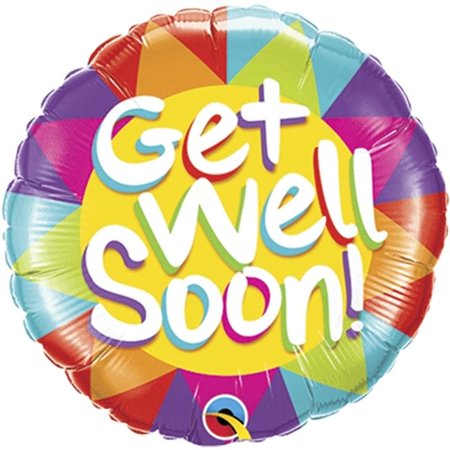 Loftus International Q4-9206 18 in. Get Well Soon Sunshine Balloon - image 1 of 1