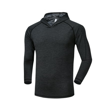 - Men's Activewear Dri Fit Long Sleeve T-Shirt Quick Dry Wicking Running Dry Fit Crew Neck Shirts