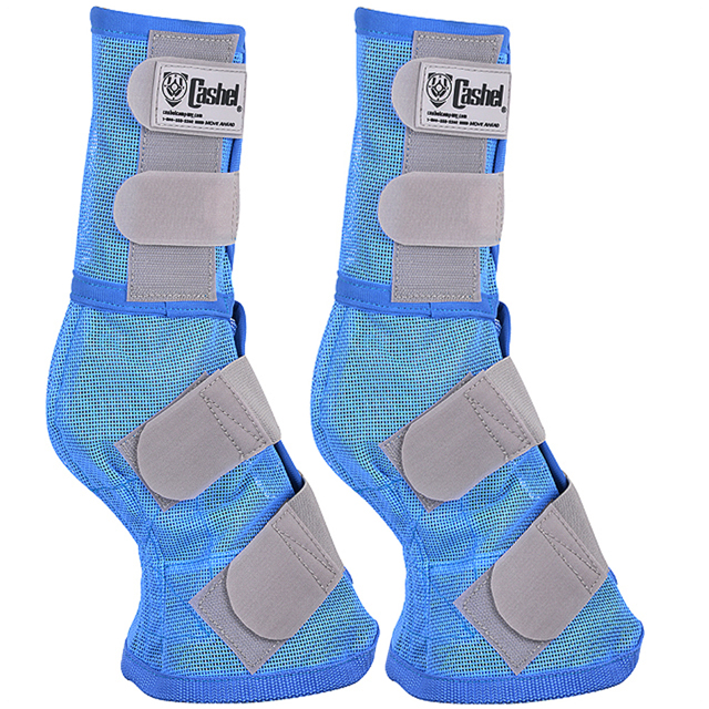 cashel designer horse fly leg guards with blue trim, set of two - benefit wounded warriors - size: arab/cob/small quarter horse