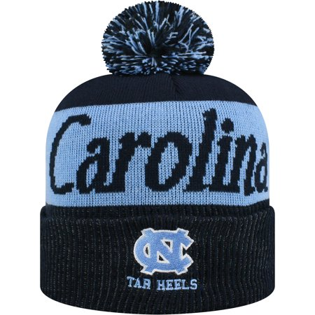 Women's Russell Navy/Carolina Blue North Carolina Tar Heels Frore Cuffed Knit Hat With Pom - OSFA (Tar Heel Blue)