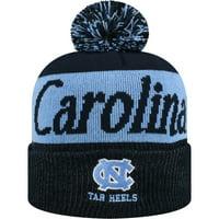 ff885da5c0f Product Image Women s Russell Navy Carolina Blue North Carolina Tar Heels  Frore Cuffed Knit Hat With Pom