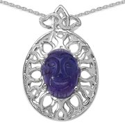JEWELRYAUCTIONSTV Sterling Silver 5 4/5ct Genuine Oval-cut Amethyst Necklace