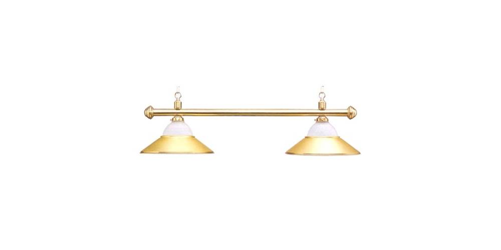 Deluxe Sterling Solid Brass & Frosted Glass Pool Table Light by Sterling Gaming