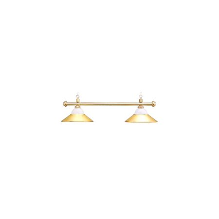 Deluxe Sterling Solid Brass & Frosted Glass Pool Table Light