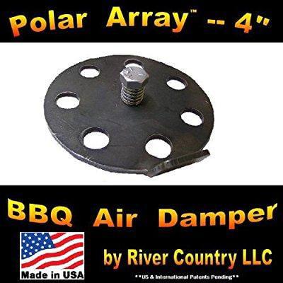 4 Polar Array BBQ Grill, Smoker or Pit Air Venting Damper Kit