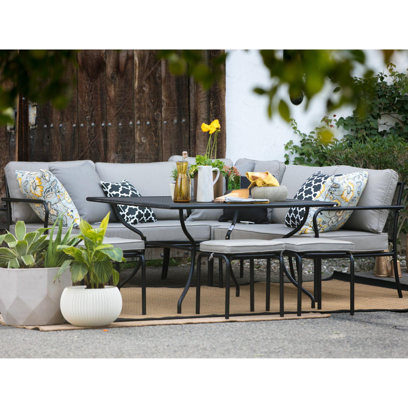 Belham Living Parkville Metal Sofa Sectional Patio Dining Set