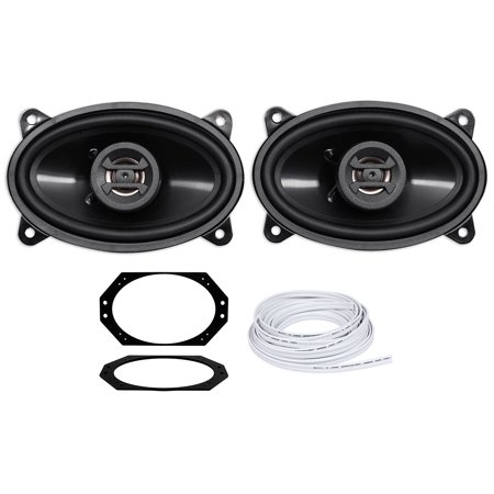 Jeep Wrangler Tj 2003 2006 Hifonics 4X6   Front Factory Speaker Replacement Kit