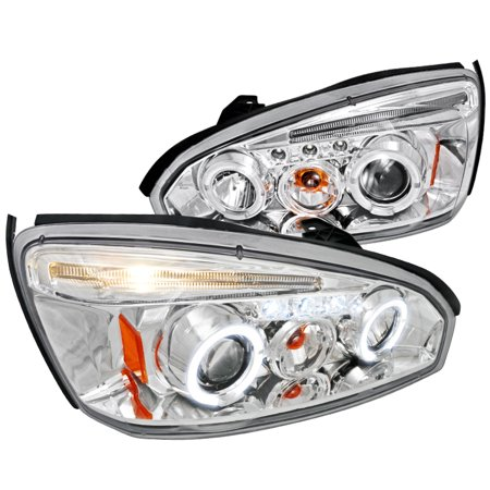 - Spec-D Tuning 2004-2007 Chevy Malibu Projector Headlights W/Led 2005 04 05 06 07 (Left + Right)