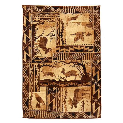 Walmart Moose Rug: DonnieAnn Company Lodge Design Moose, Deer, Eagle And