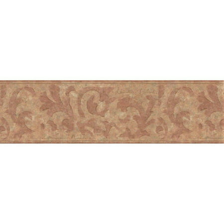 Brown Beige Swirls Wallpaper Border 830 VC, Prepasted: Paste has already been applied to the back of the wallpaper and is activated with water. By Wallpaper For Less From (Best Way To Remove Wallpaper Paste From Drywall)