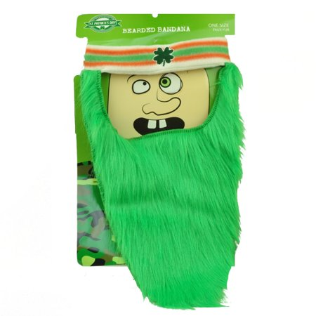 St Patricks Day Bearded Bandana Headband Green Irish 4 Leaf Shamrocks Lucky Luck](Diy Bandana)