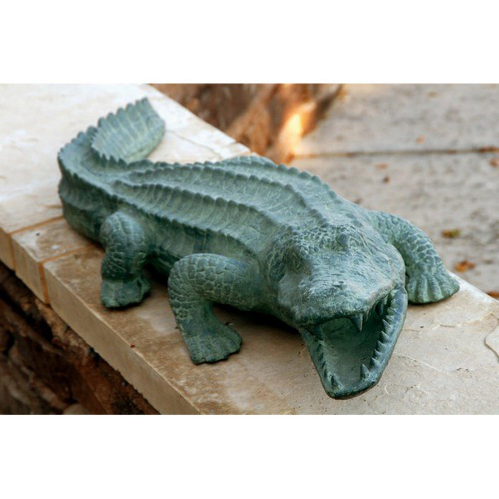 Mean Old Alligator Garden Statue