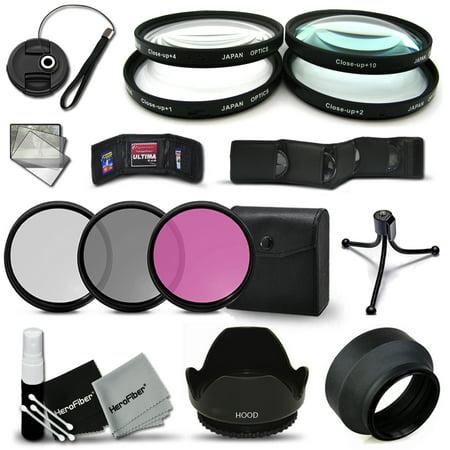 Ultra Fine 67mm Filters Accessory Kit for CANON EOS 70D 60d 60Da 7D 6D 5D 7D Mark II 5D Mark II 5D Mark III EOS REBEL T5 T5i T4i T3 T3i T2i T1i EOS M EOS M2 EOS 1200D 1100D 700D 650D 600D 550D 100D XT ()
