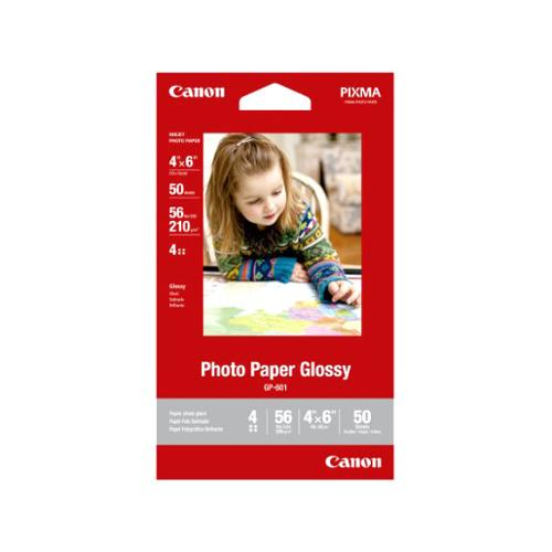 "Canon 8649B001 Photo Paper Glossy 4""x6"", 50 Sheets"