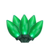 Set of 25 Green LED C9 Christmas Lights