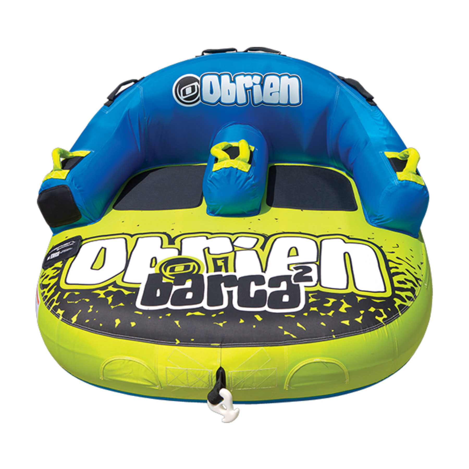 OBrien Barca 2 Kickback Inflatable 2 Person Rider Towable Boat Water Tube Raft by O'Brien Watersports