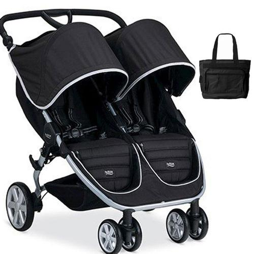 Britax B-Agile Double Stroller with matching diaper bag -...