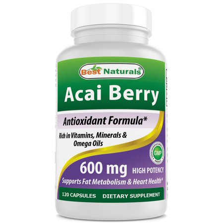 Best Naturals Acai Berry 600 mg 120 Capsules