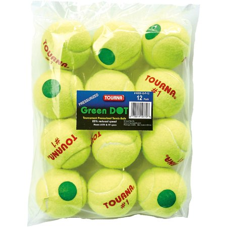 Kids Green Dot Pressurized Balls -12 Cans Green Dot Ball