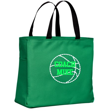 Basketball Personalized - Sport Essential Tote Bag (Kelly Green)