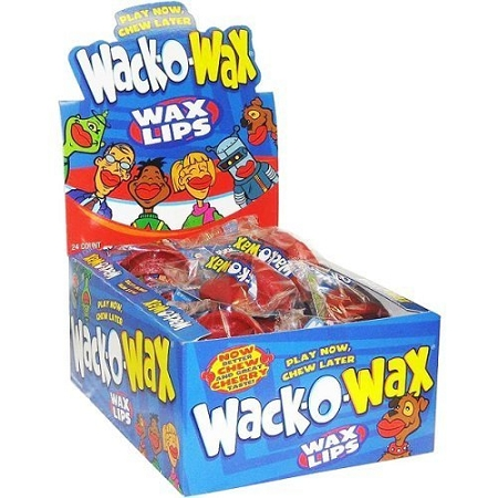 Wax Lips Candy, (Pack of 24)