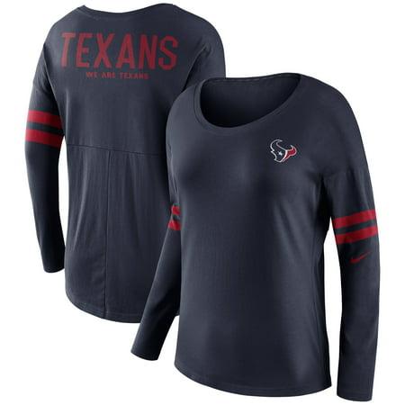 ecd42caf Houston Texans Nike Women's Tailgate Long Sleeve T-Shirt - Navy -  Walmart.com