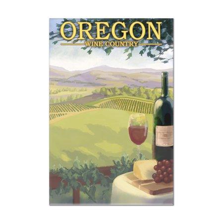 Oregon - Wine Country - Lantern Press Artwork (16x24 Acrylic Wall Art  Gallery Quality)