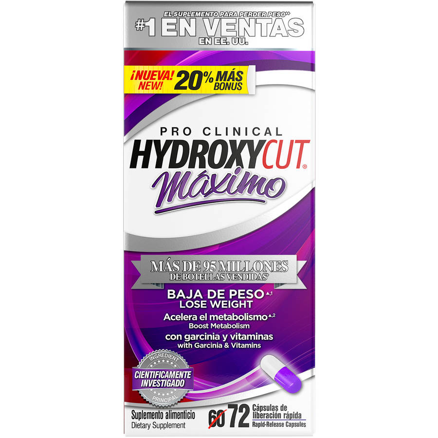 Hydroxycut Maximo Dietary Supplement Rapid-Release Capsules, 72 count