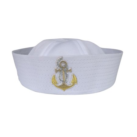 Sailor Hat Navy Ship With Anchor Costume Accessory Battleship Bucket Cap Adult