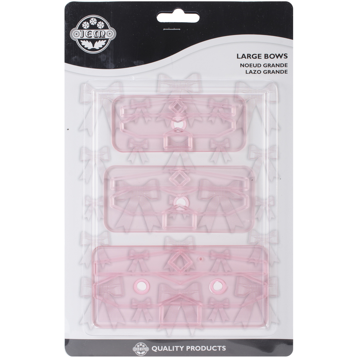 Plastic Cutters, 3-Pack, Large Bows
