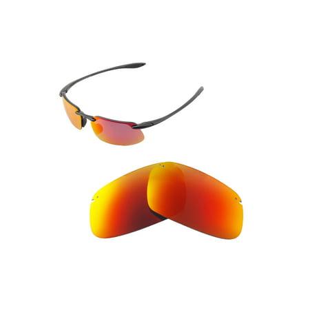 770a8bea0a Walleva Fire Red ISARC Polarized Replacement Lenses for Maui Jim Kanaha  Sunglasses - Walmart.com