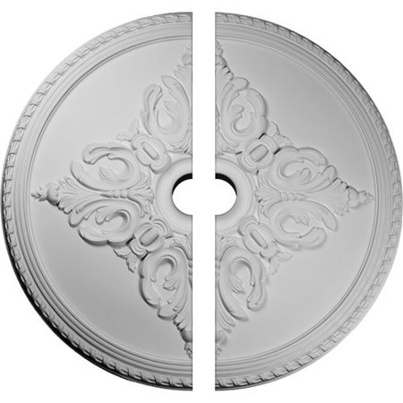 Ekena Millwork 54 1/4u0022OD x 6u0022ID x 2 7/8u0022P Milton Ceiling Medallion, Two Piece (Fits Canopies up to 10 1/2u0022)