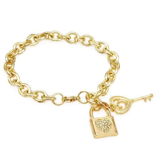 Vivid Gemz Universal Language Round Crystal Link Bracelet