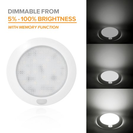 Dream Lighting 3inch 12V LED Ceiling Light Dimmable,Memory Function, for RV Trailer Boat Interior Bathroom Under Cabinet Lamp, Cool White