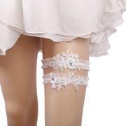 5a13435dde8 2PCS Lace Garter Set Elegant Elastic Leg Ring Bridal Garter Prom Garter for  Wedding Party