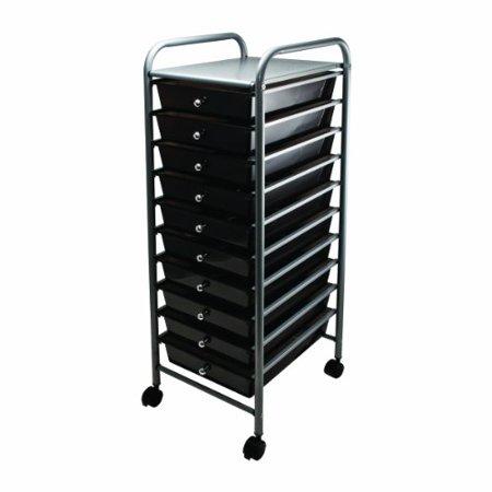 advantus 10 drawer rolling file organizer cart 37 6 x 13 x inches smoke 34007. Black Bedroom Furniture Sets. Home Design Ideas