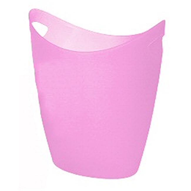 Yaffa 37TP PK 17 Quart Squooshie Wastebasket - Pink - Case of 8