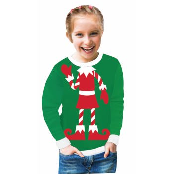 Holiday Elf Adult Ugly Christmas Sweater X-Large - Ugly Sweater Pics